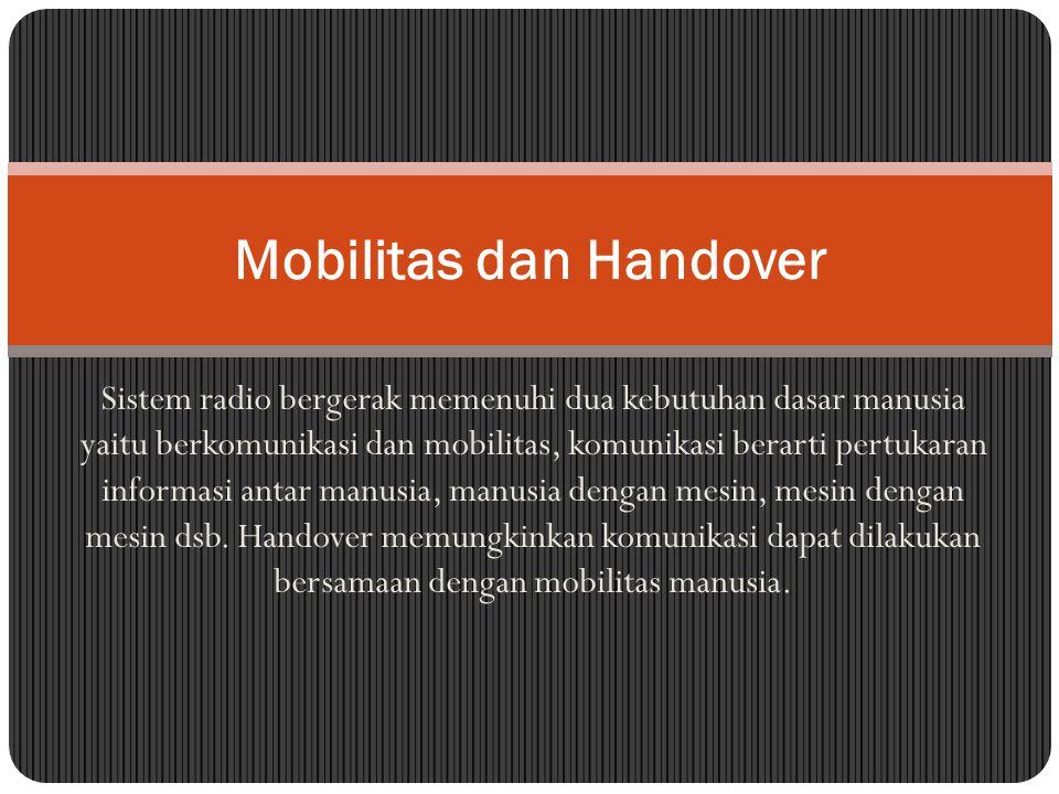 Mobilitas dan Handover