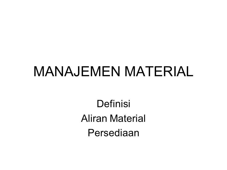 Definisi Aliran Material Persediaan