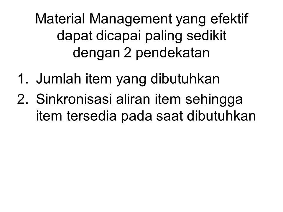 Material Management yang efektif dapat dicapai paling sedikit dengan 2 pendekatan
