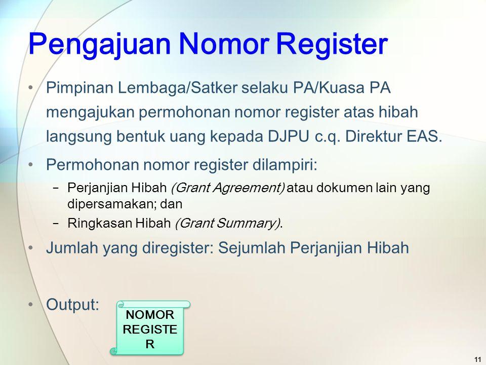 Pengajuan Nomor Register