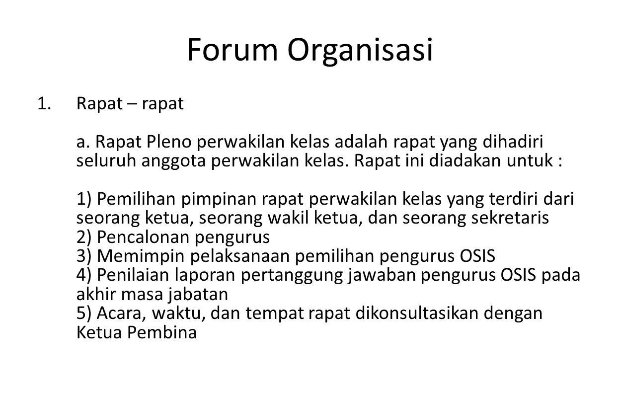 Forum Organisasi