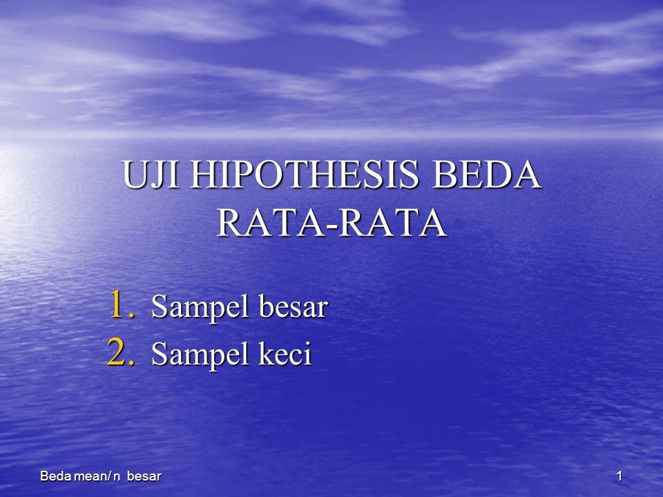 UJI HIPOTHESIS BEDA RATA-RATA