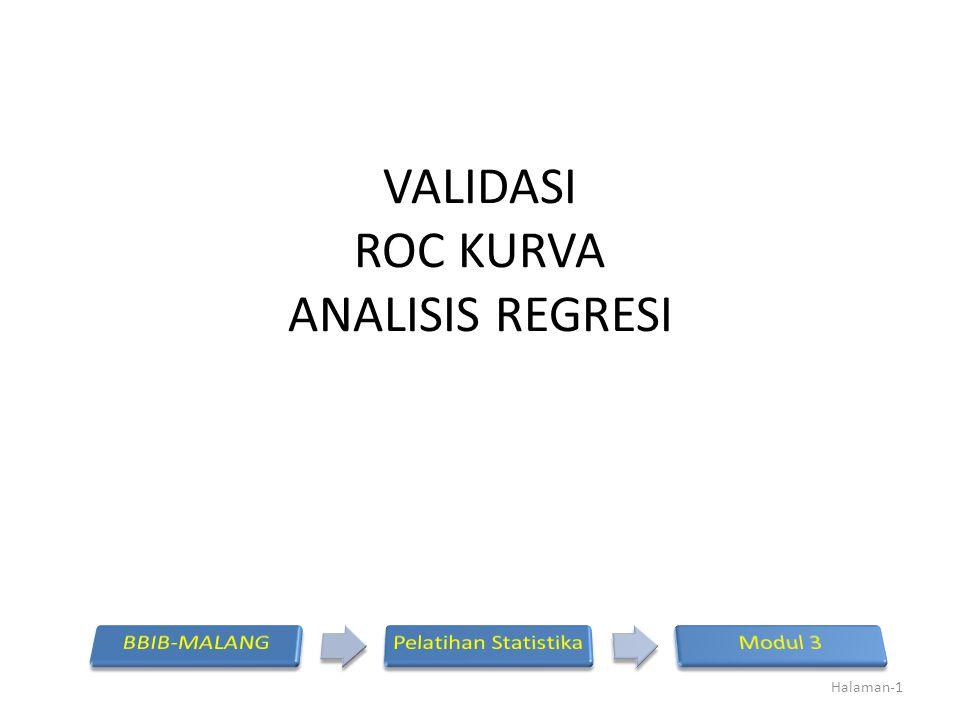 VALIDASI ROC KURVA ANALISIS REGRESI