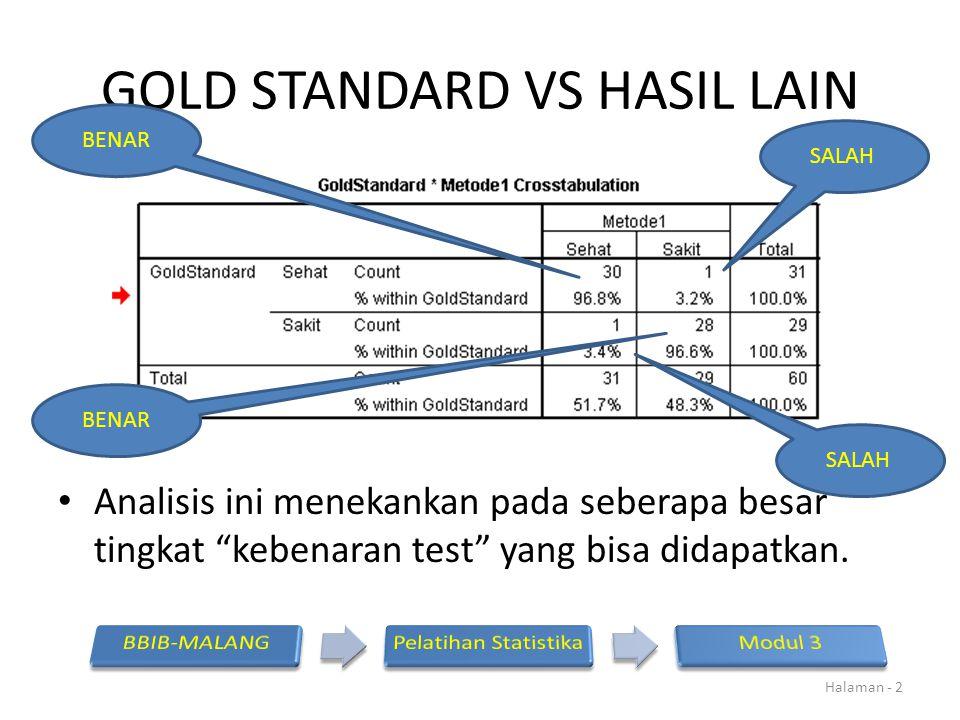 GOLD STANDARD VS HASIL LAIN