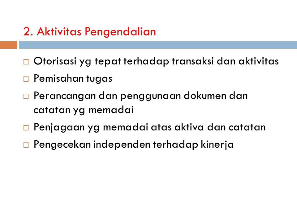 2. Aktivitas Pengendalian