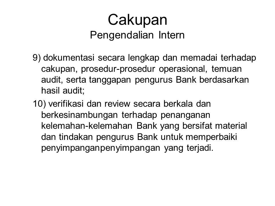 Cakupan Pengendalian Intern