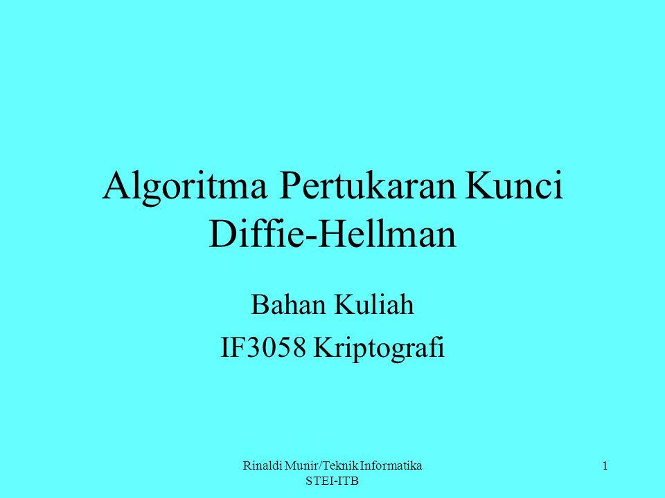 Algoritma Pertukaran Kunci Diffie-Hellman