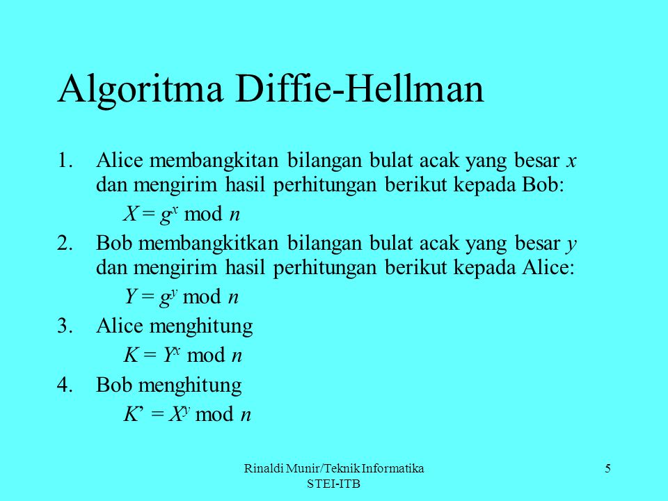 Algoritma Diffie-Hellman