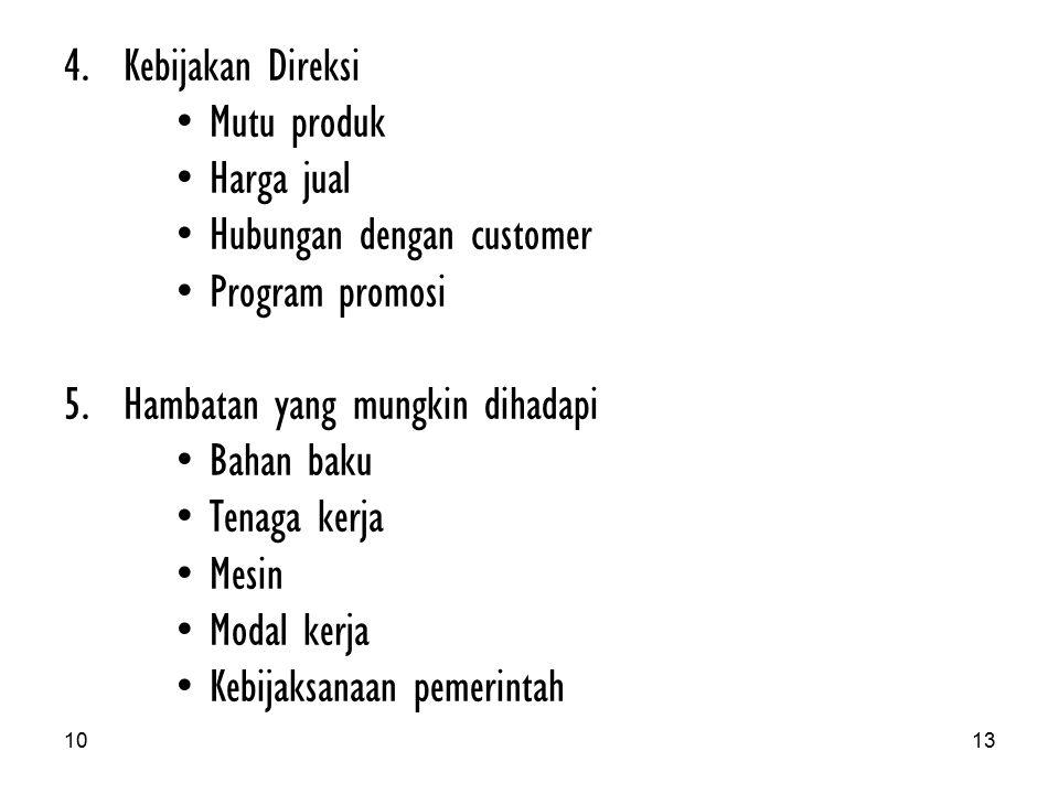 Hubungan dengan customer Program promosi