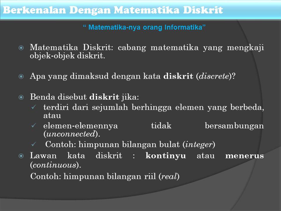 Berkenalan Dengan Matematika Diskrit