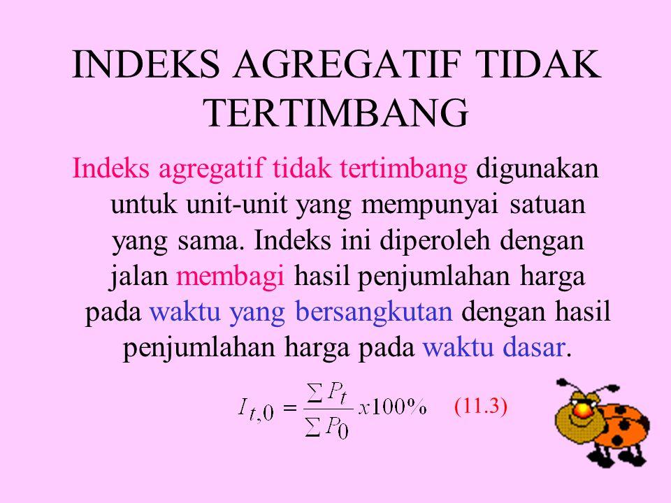 INDEKS AGREGATIF TIDAK TERTIMBANG
