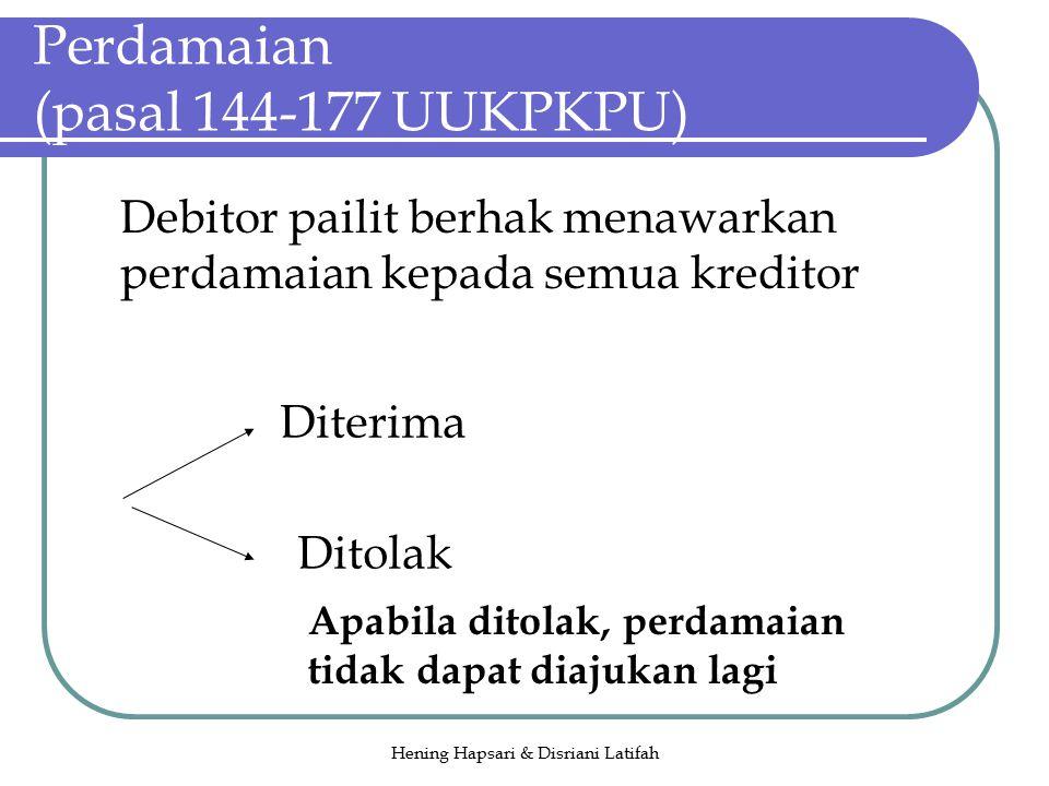 Perdamaian (pasal 144-177 UUKPKPU)