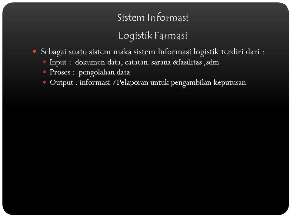 Sistem Informasi Logistik Farmasi