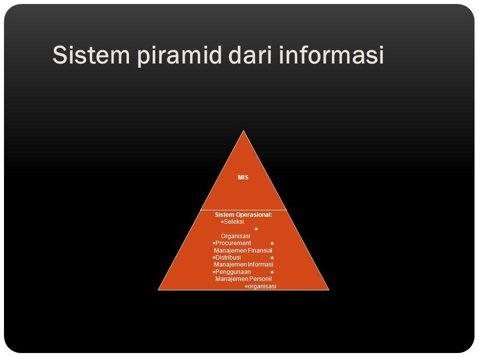 Sistem piramid dari informasi