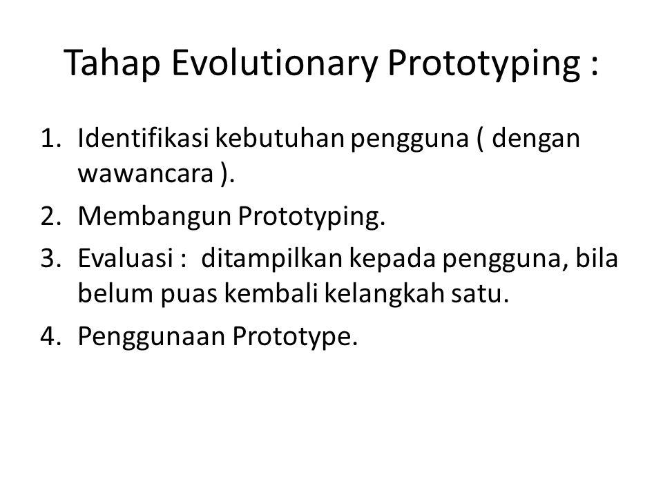 Tahap Evolutionary Prototyping :