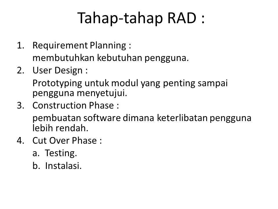 Tahap-tahap RAD : Requirement Planning :