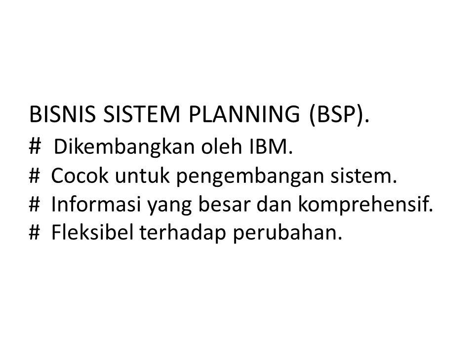 BISNIS SISTEM PLANNING (BSP). # Dikembangkan oleh IBM