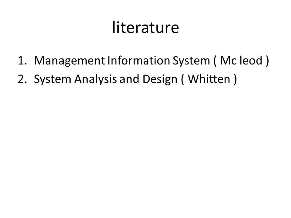 literature Management Information System ( Mc leod )