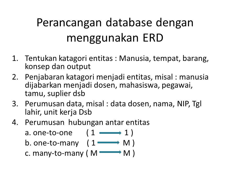 Perancangan database dengan menggunakan ERD