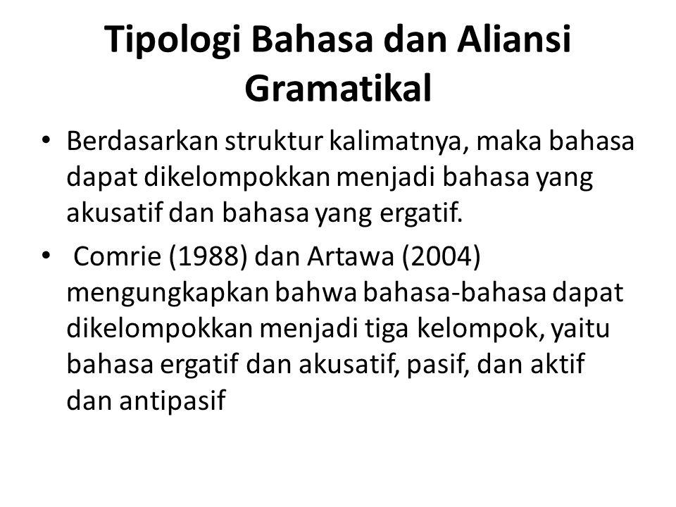 Tipologi Bahasa dan Aliansi Gramatikal