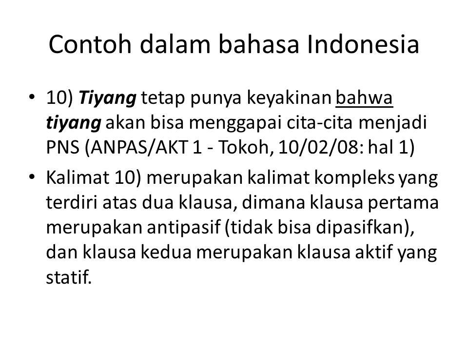 Contoh dalam bahasa Indonesia