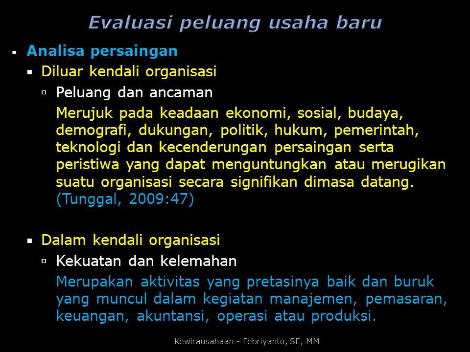 Evaluasi peluang usaha baru