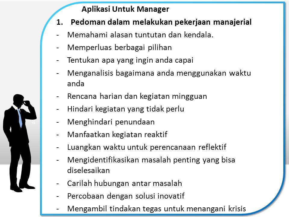 Aplikasi Untuk Manager