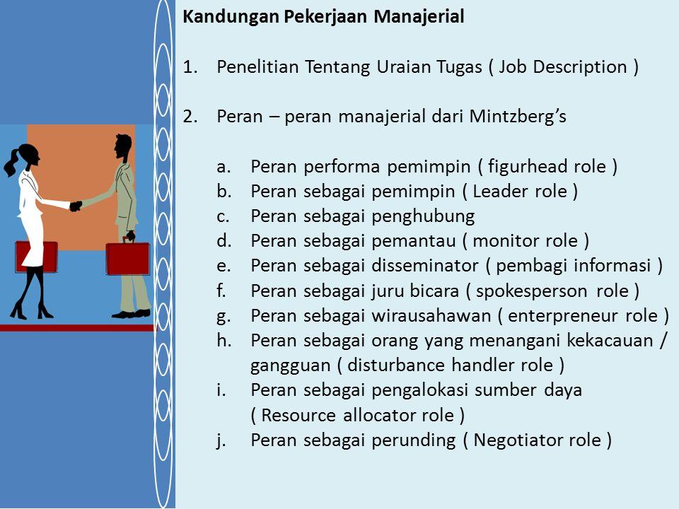 Kandungan Pekerjaan Manajerial