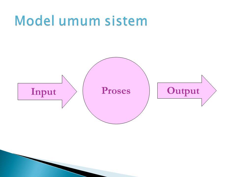 Model umum sistem Proses Input Output