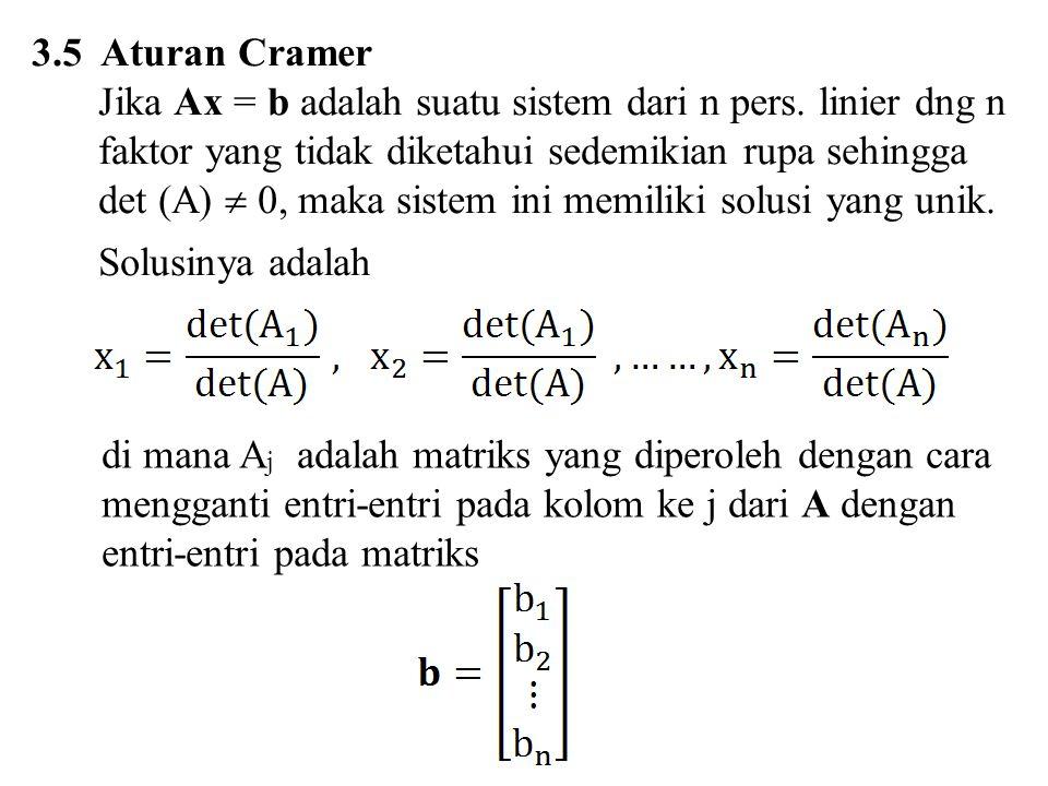 3.5 Aturan Cramer