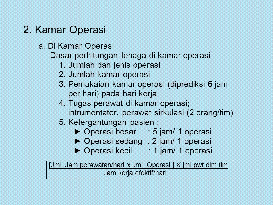2. Kamar Operasi a. Di Kamar Operasi
