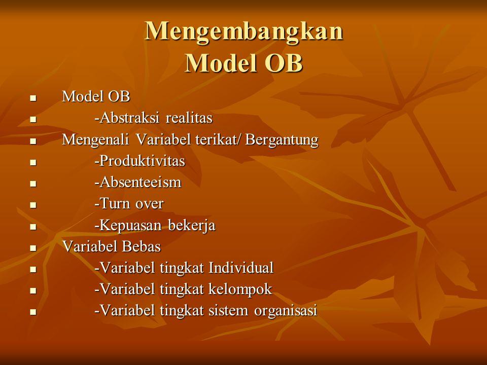 Mengembangkan Model OB