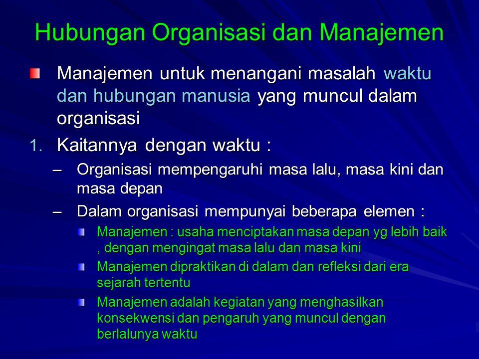 Hubungan Organisasi dan Manajemen