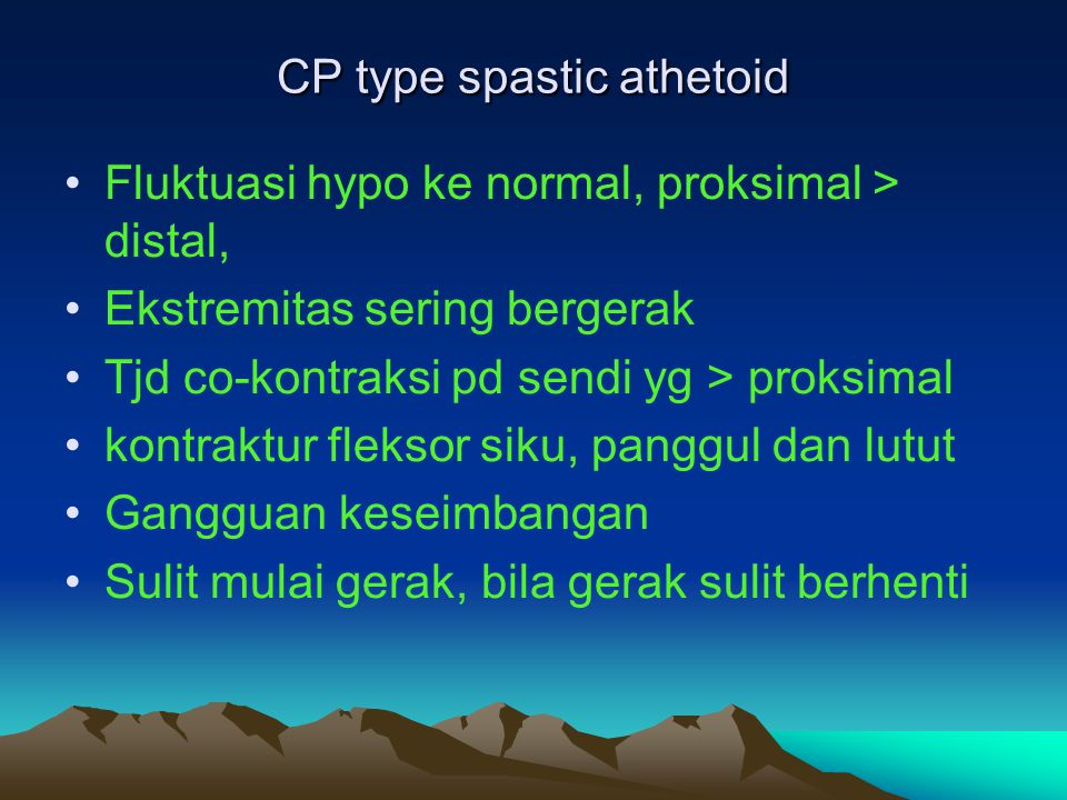 CP type spastic athetoid