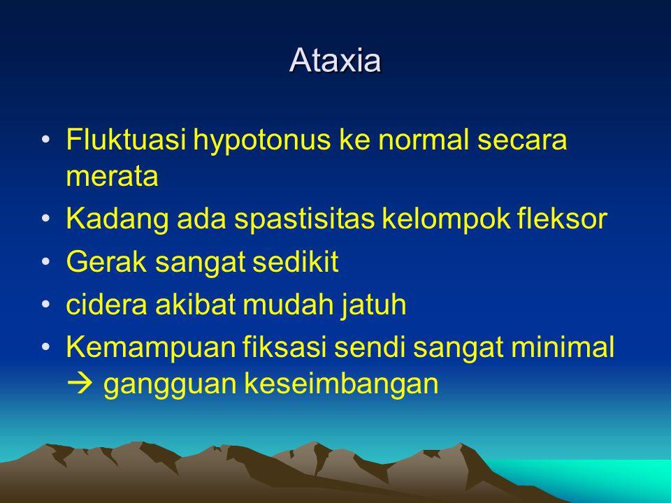Ataxia Fluktuasi hypotonus ke normal secara merata