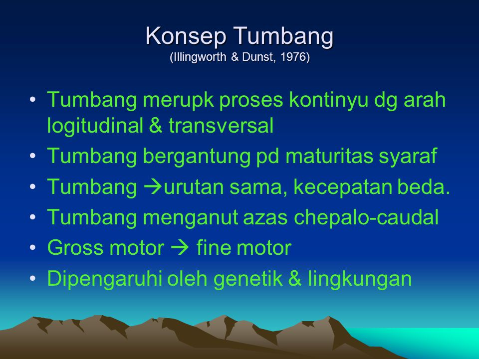 Konsep Tumbang (Illingworth & Dunst, 1976)
