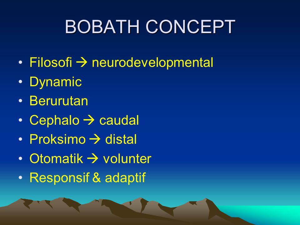 BOBATH CONCEPT Filosofi  neurodevelopmental Dynamic Berurutan