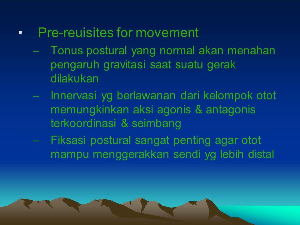 Pre-reuisites for movement