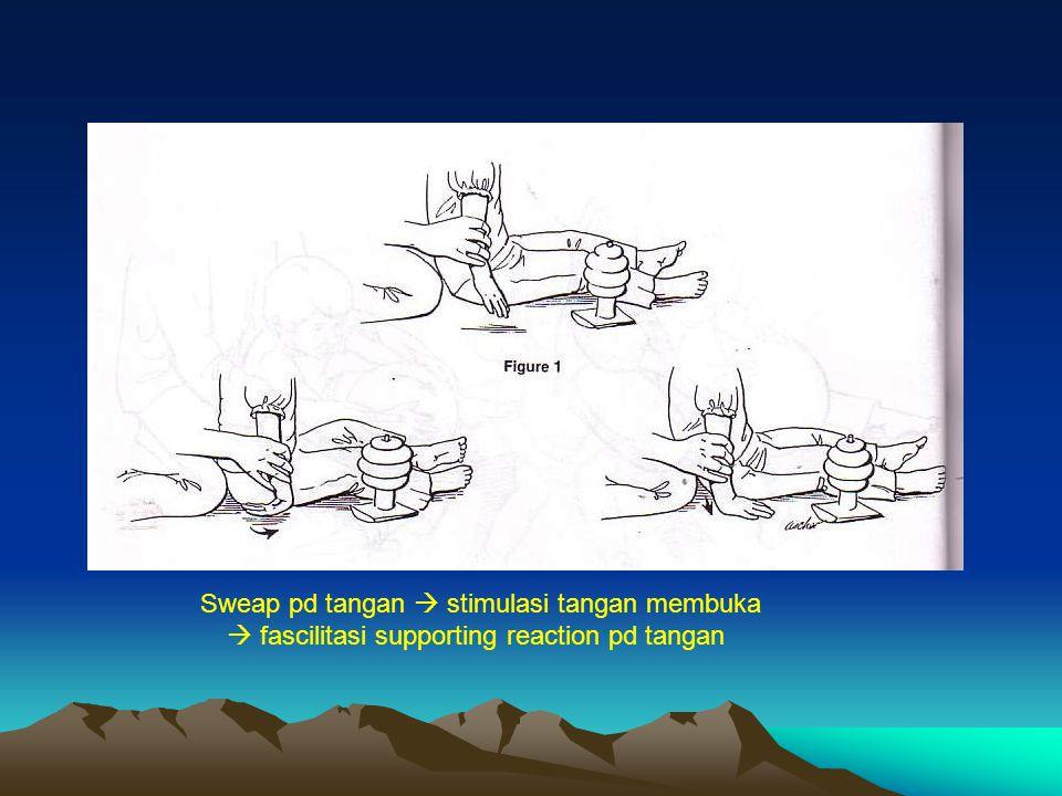 Sweap pd tangan  stimulasi tangan membuka