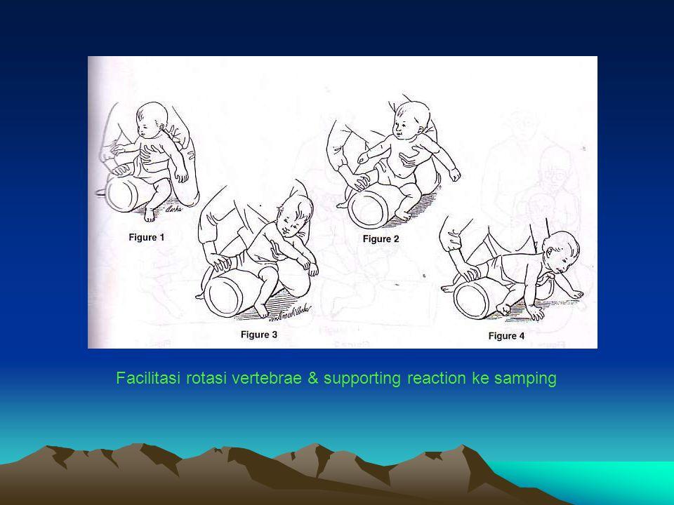 Facilitasi rotasi vertebrae & supporting reaction ke samping