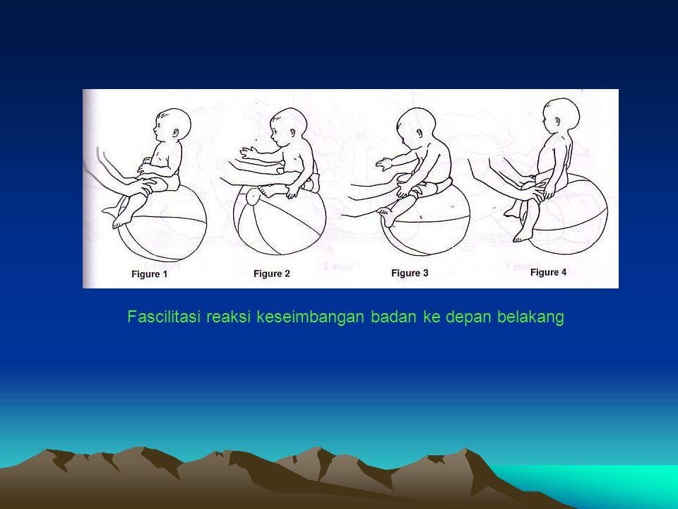 Fascilitasi reaksi keseimbangan badan ke depan belakang