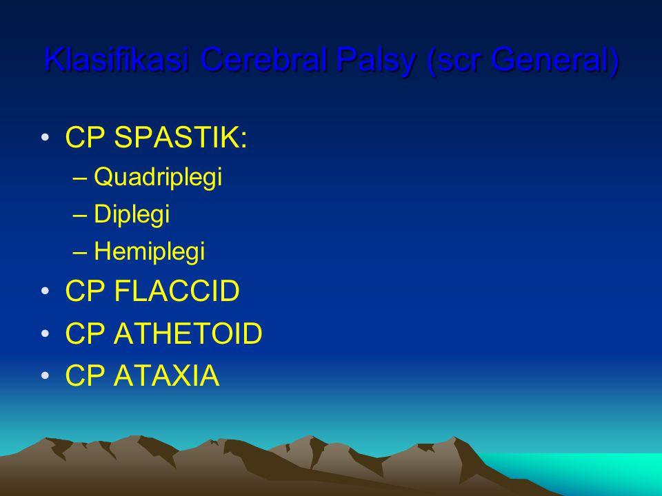 Klasifikasi Cerebral Palsy (scr General)