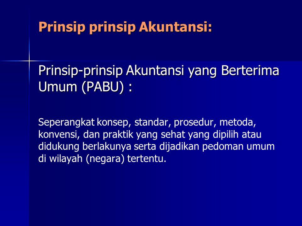 Prinsip prinsip Akuntansi: