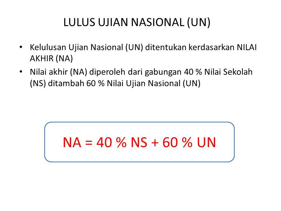 LULUS UJIAN NASIONAL (UN)