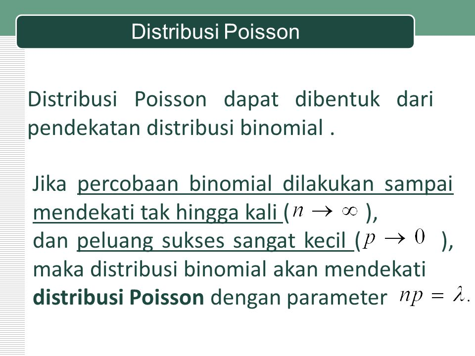 distribusi Poisson dengan parameter