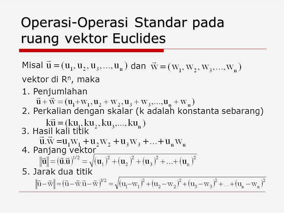 Operasi-Operasi Standar pada ruang vektor Euclides