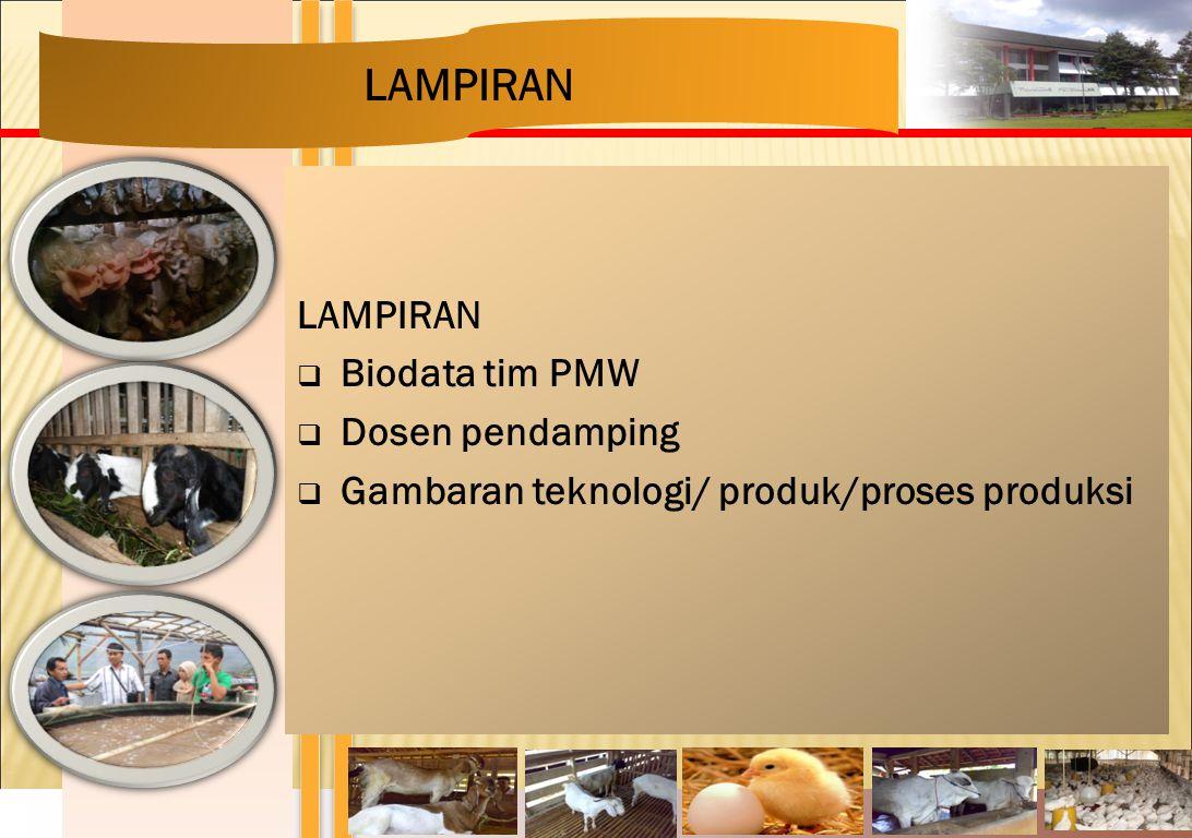 LAMPIRAN LAMPIRAN Biodata tim PMW Dosen pendamping