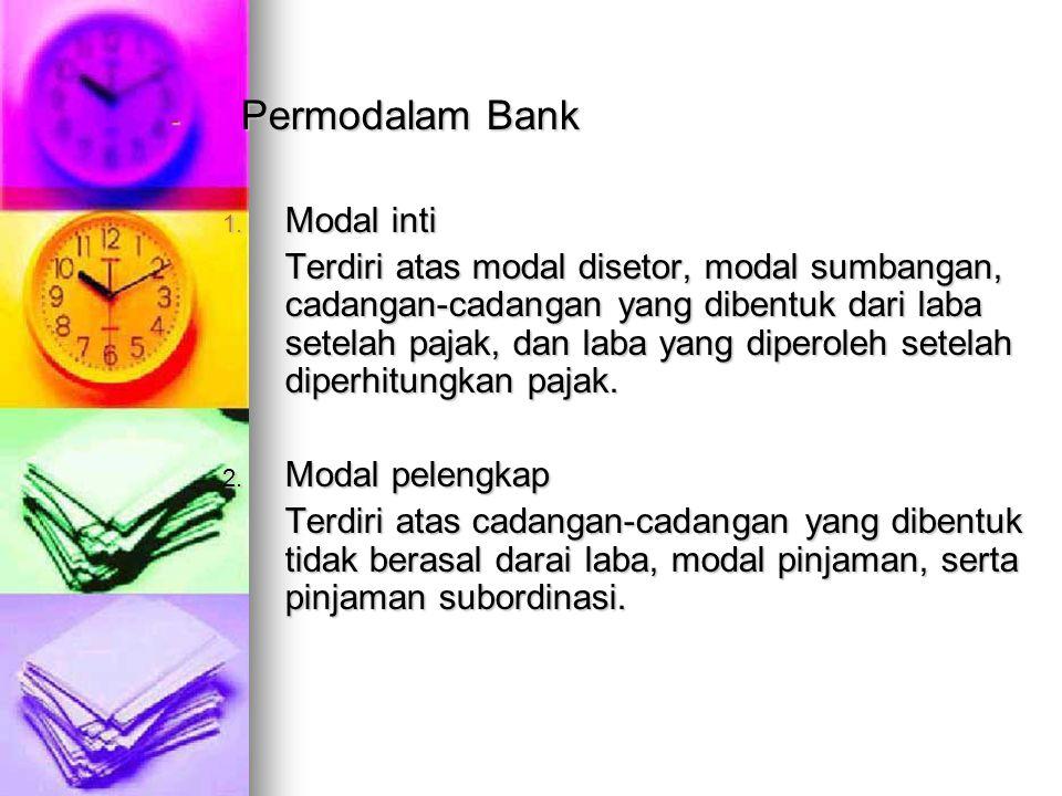 Permodalam Bank Modal inti