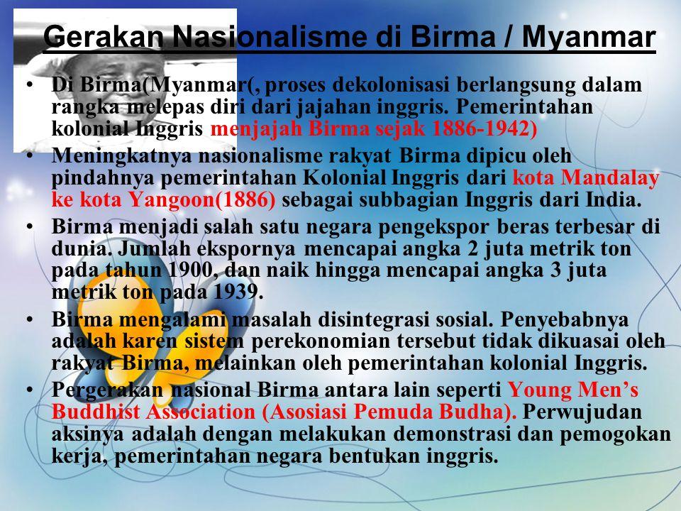 Gerakan Nasionalisme di Birma / Myanmar