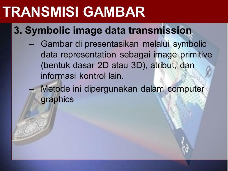 TRANSMISI GAMBAR 3. Symbolic image data transmission